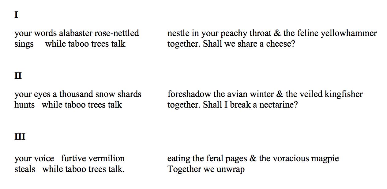 The poem 'Folk Songs' by Jane Ayres